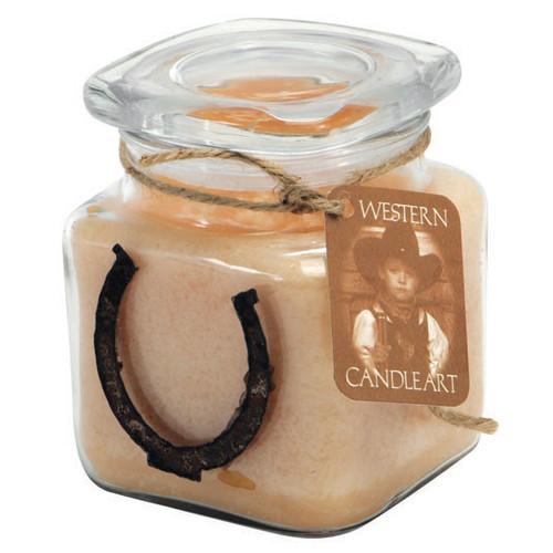 Horseshoe Candle Art Jar
