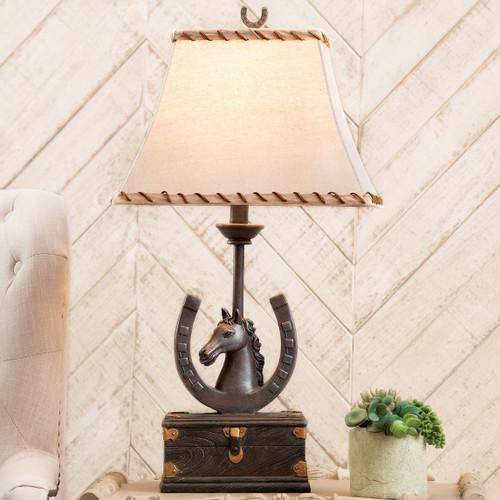 Horseshoe Western Table Lamp - Set of 2