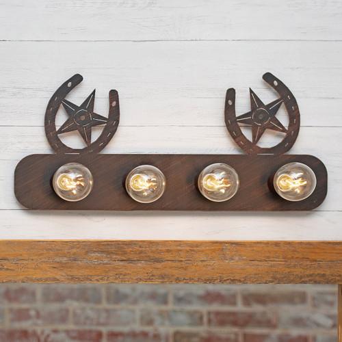 Horseshoes & Stars Vanity - 4 Light