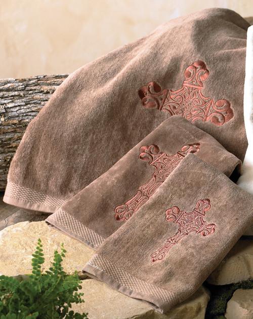 Spanish Cross Mocha Towel Set - 3 pcs
