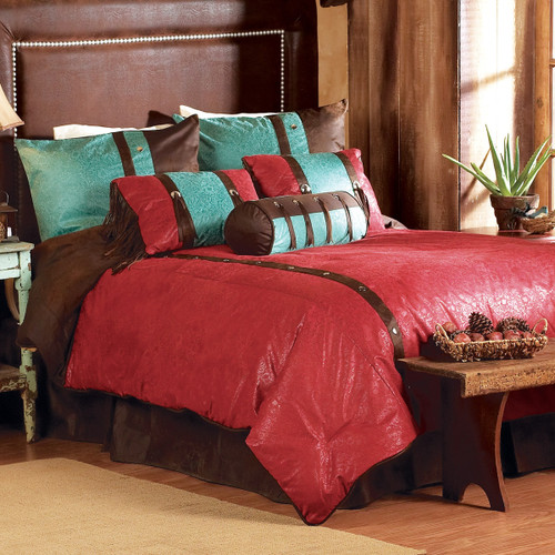 Cheyenne Red Bed Set - Full