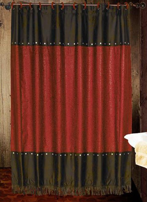Cheyenne Red Shower Curtain