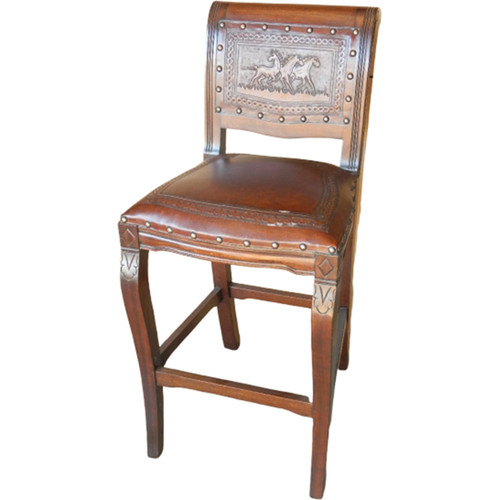 Imperial Counter Stool - Running Horses & Rustic
