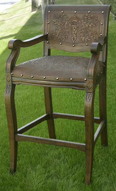 Imperial Counter Stool with Arms - Set of 3