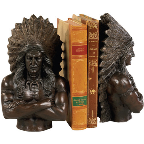 Indian Chief Bookends - Set of 2