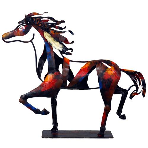 Indian Trotting Horse Sculpture