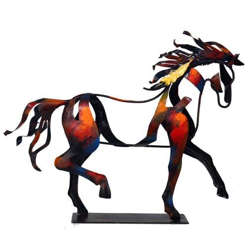 Indian Walking Horse Sculpture
