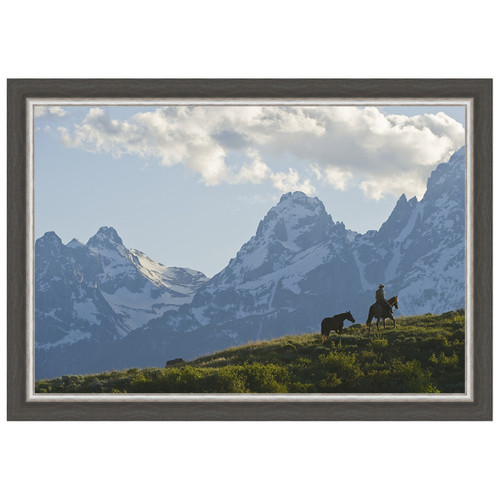 Into the Tetons Framed Canvas
