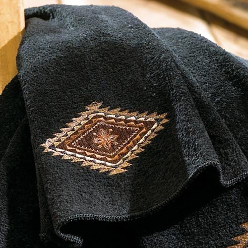 Mojave Black Fingertip Towel