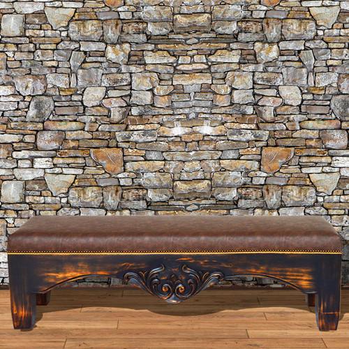 Kensington Faux Leather Bench