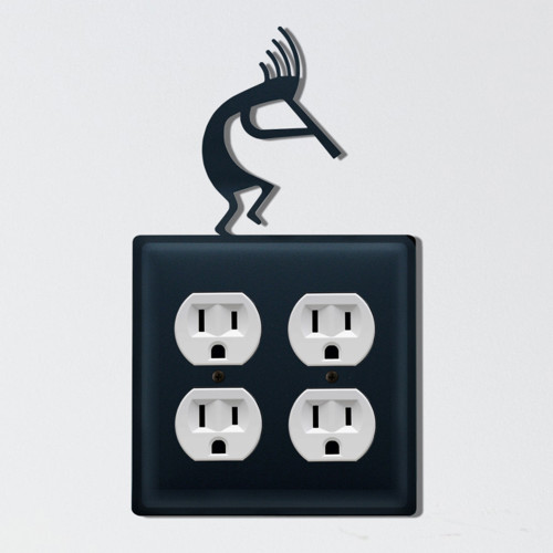 Kokopelli Double Outlet Cover