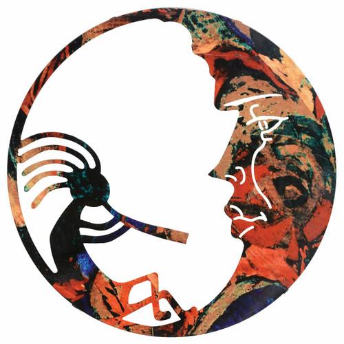 Kokopelli Lunar Metal Wall Art - OVERSTOCK