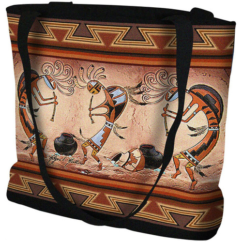 Kokopelli Pot Dance Tote Bag