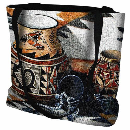 Kokopelli Pot Tote Bag
