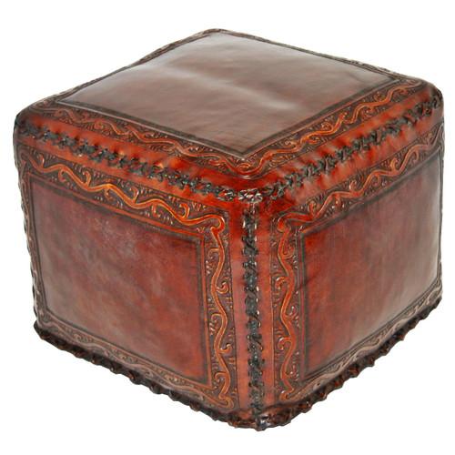 Large Ottoman Classico Square Brown