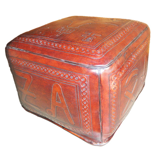 Large Ottoman Square Steerbrands Brown