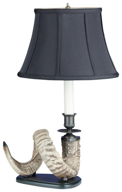 Left Facing Ram Horn Lamp