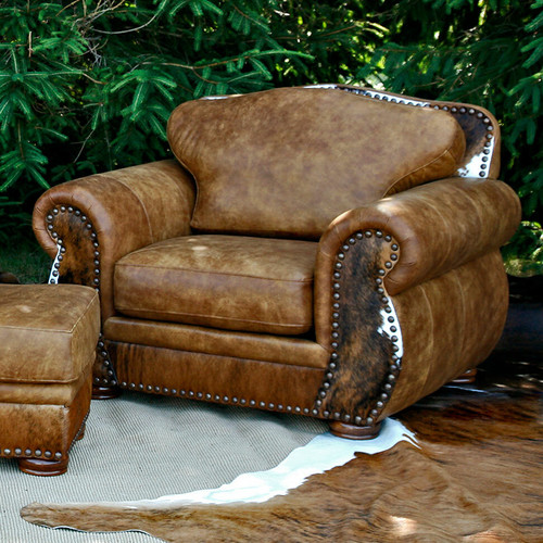 Legend Stallone Chair with Brindle Hide