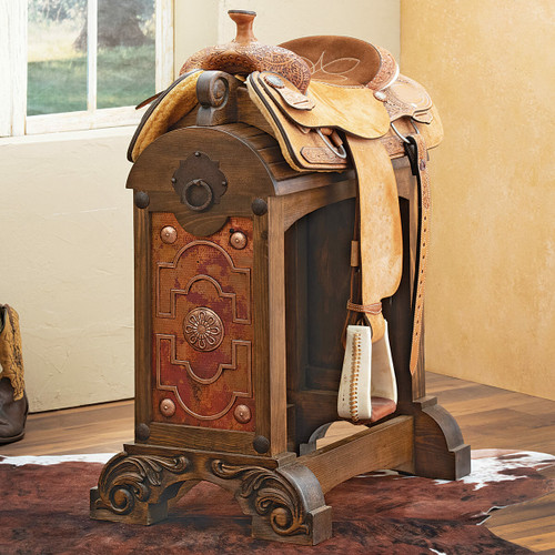 Lexington Saddle Stand with Copper Panel