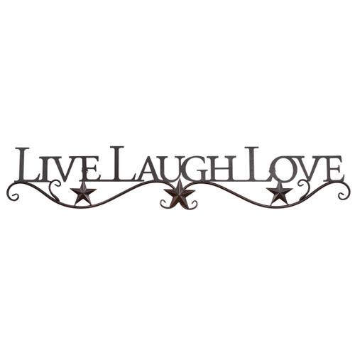 Live, Laugh, Love Metal Star Wall Hanging
