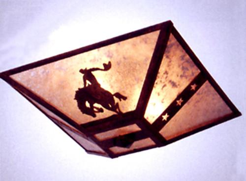 Lonestar Bronco Drop Ceiling Mount Light