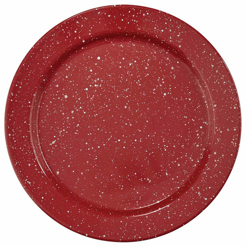 Lodge Red Dinner Plates - Set of 4
