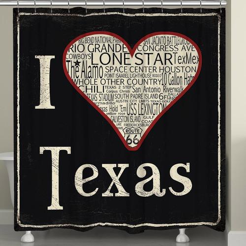 Lone Star Love Shower Curtain - OVERSTOCK