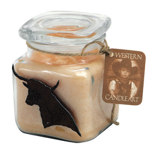 Longhorn Candle Art Jar