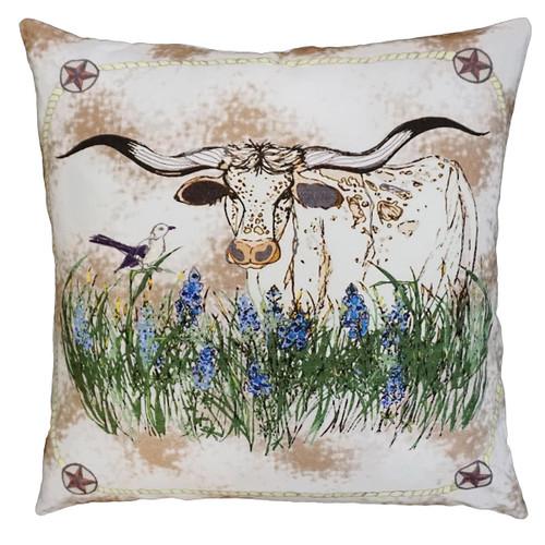 Longhorn Fields Pillow