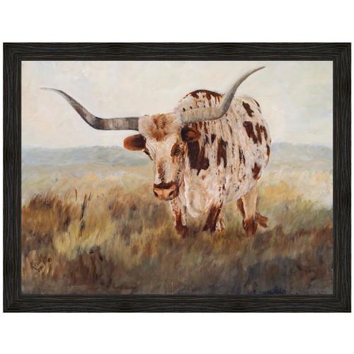 Longhorn Gaze Canvas Art