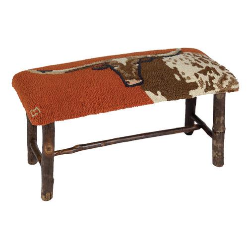 Longhorn Hickory Bench