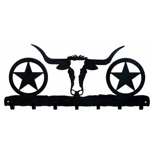 Longhorn Key Chain Holder - Blackened Iron