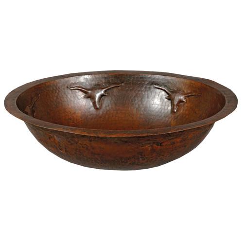 Longhorn Oval Copper Sink