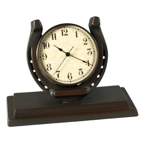 Lucky Horse Shoe Desk Clock