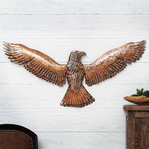 Majestic Eagle Copper Metal Wall Art