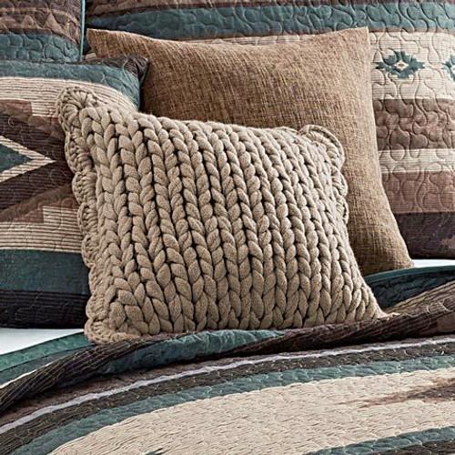 Mauve Knit Pillow