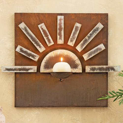 Mesa Sunrise Metal Wall Candle Holder
