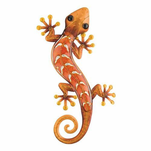 Metal Gecko Wall Art - Copper