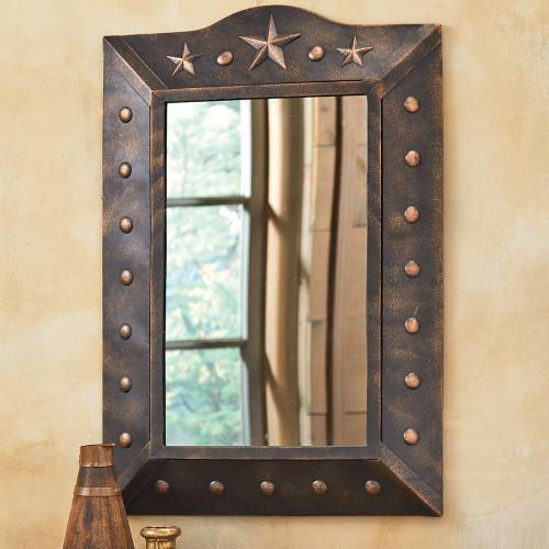 Metal Western Star Mirror