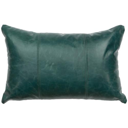 Mountain Sierra Peacock Leather Pillow