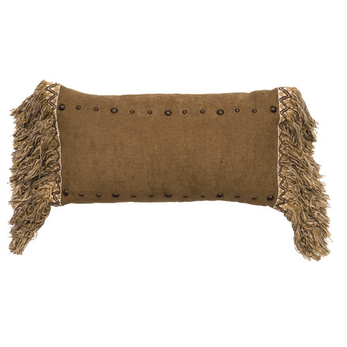 Mountain Storm Caprice Truffle Fringed Pillow