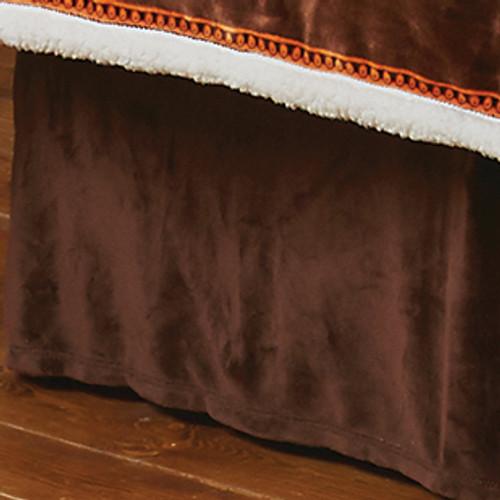 Brown Plush Bedskirt - King