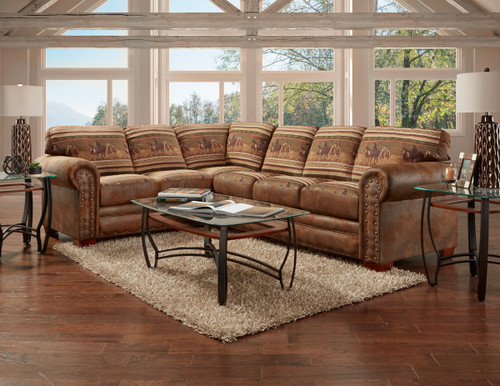 Mustang Band 2-Piece Sectional Sofa