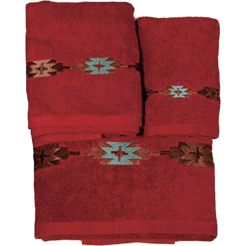 Navajo Red Towel Set (3 pcs)