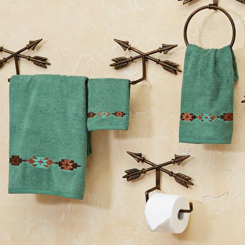 Navajo Turquoise Towel Set (3 pcs)