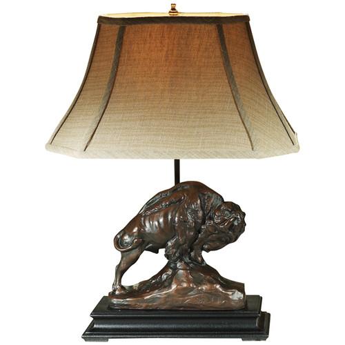 Noble Buffalo Sculpture Lamp