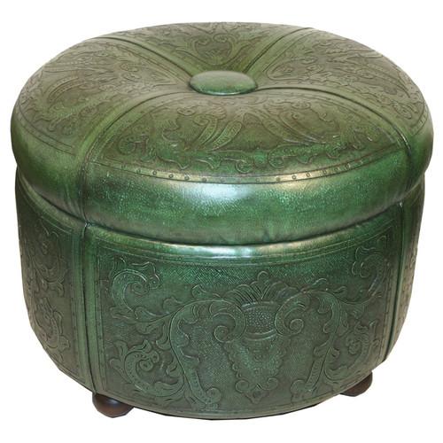 Bouquet Green Ottoman