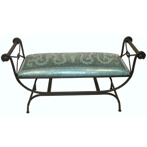 Turquoise Double Vanity Bench