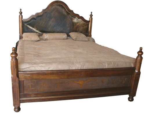 Spanish Hair on Hide Bed - Queen