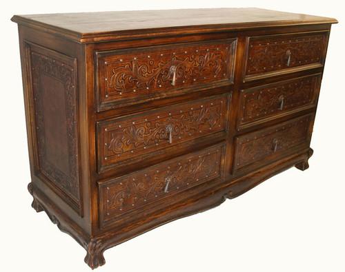 Spanish 6 Drawer Dresser